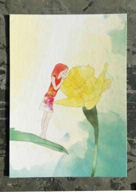 Daffodil Pixie Postcard