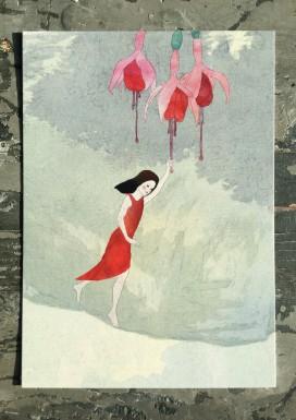 Fuchsia Pixie Postcard