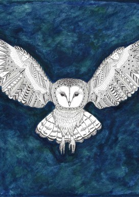 Owl in Flight Limited Edition Print